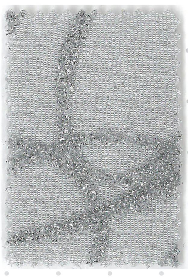 Delhi - col.1 gri stralucitor cu imprimeu argintiu in relief
