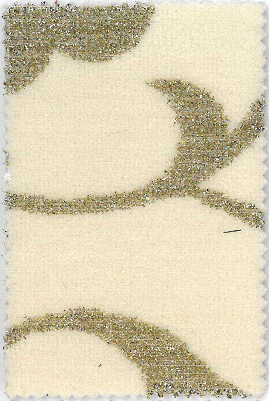 St. Tropez - col.2 crem deschis cu model auriu imprimat