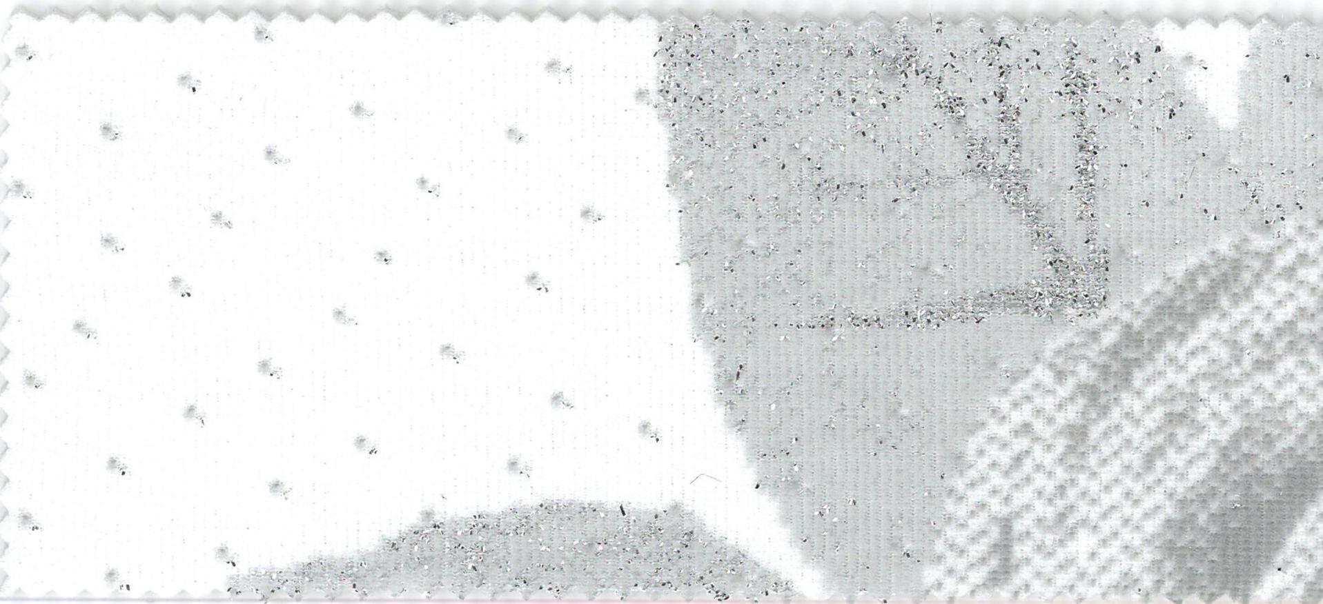Les Halles - col.1 alb cu trandafiri argintii imprimati